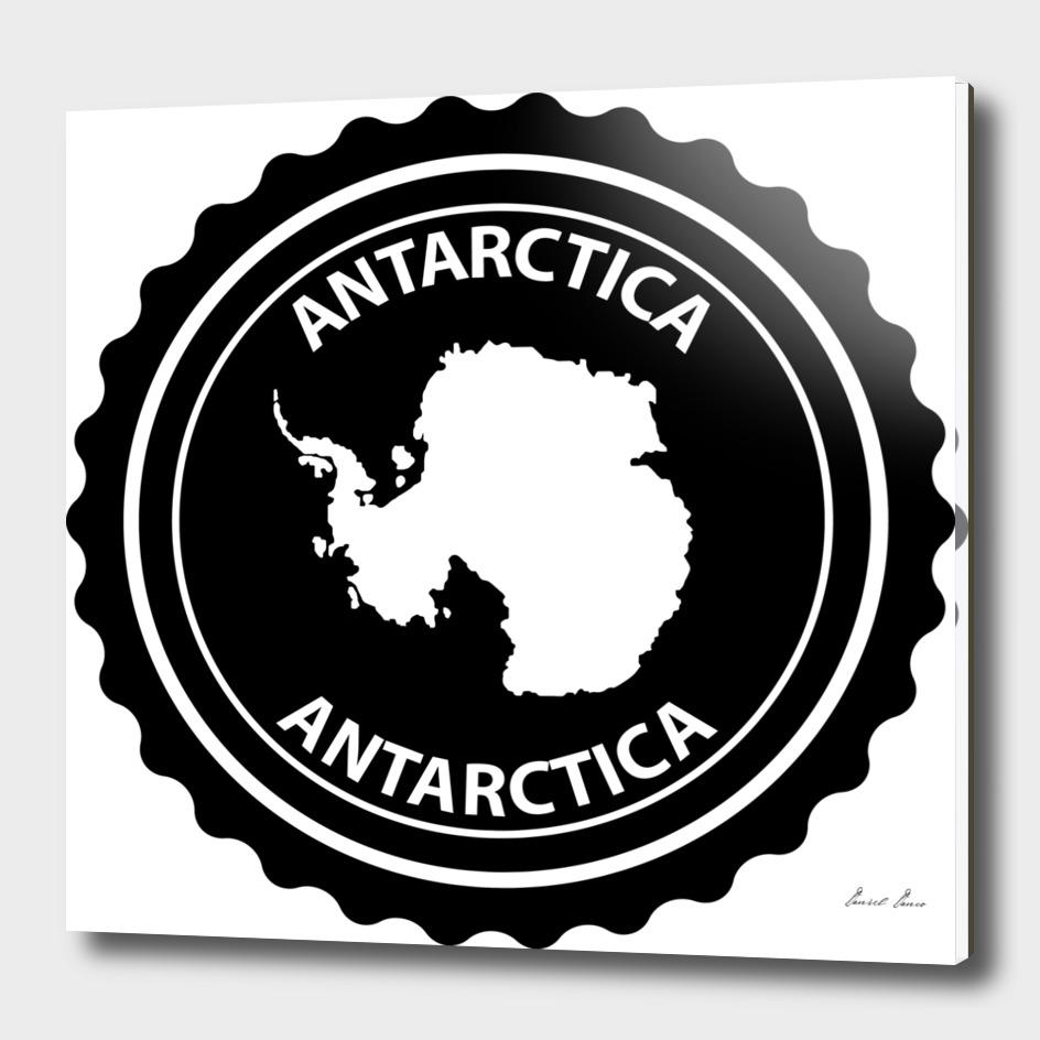 Antarctica rubber stamp