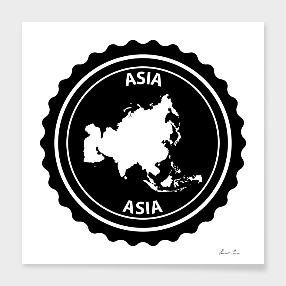 Asia rubber stamp
