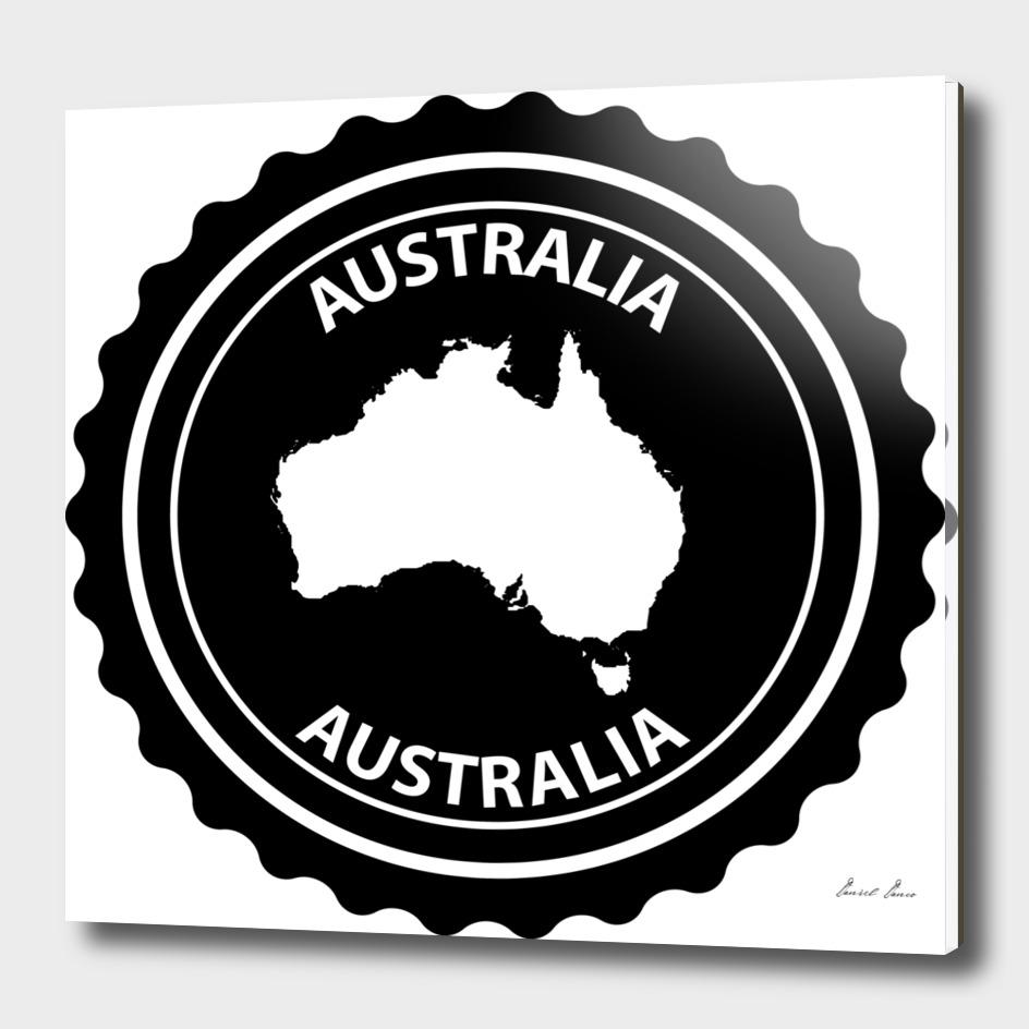 Australia rubber stamp
