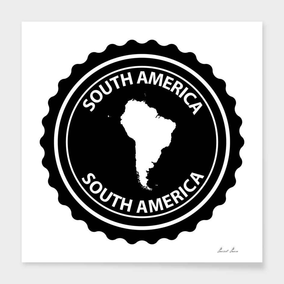 South America rubber stamp