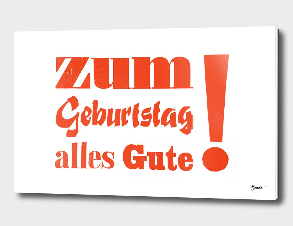 Happy Birthday – Zum Geburtstag alles Gute orange