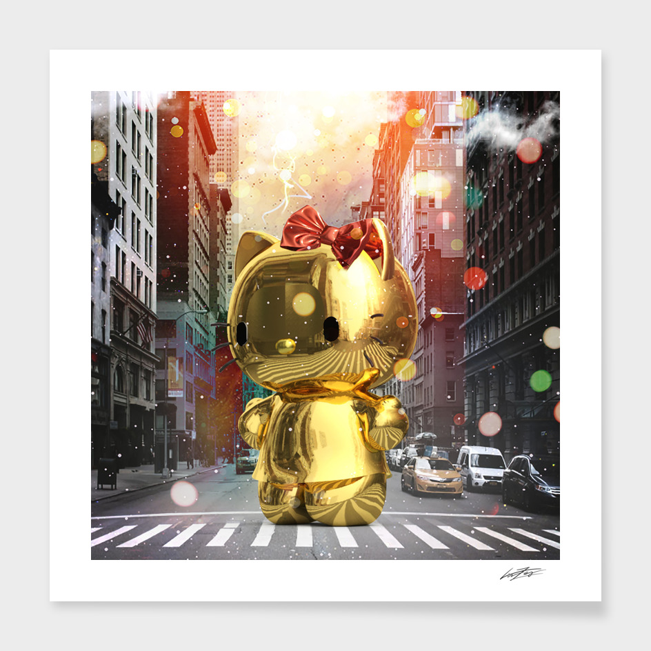 Gold Kitty in New York City