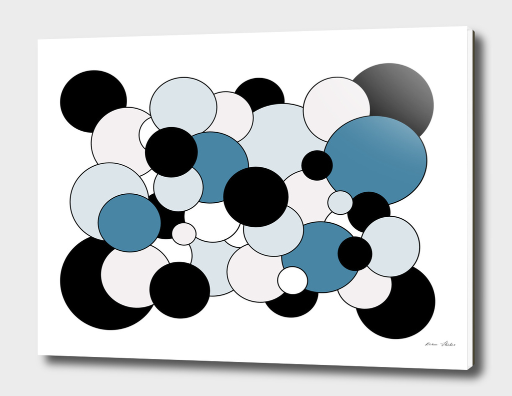 Abstract - blue, black  and white.