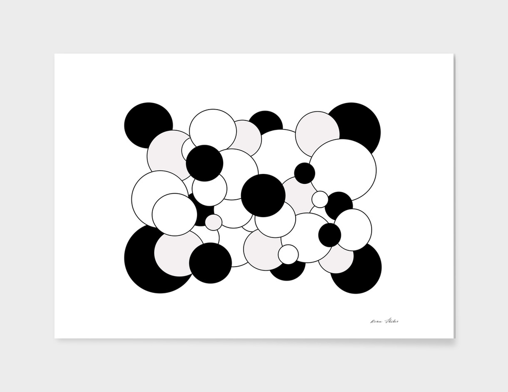 Abstract  pattern -  gray, black and white.