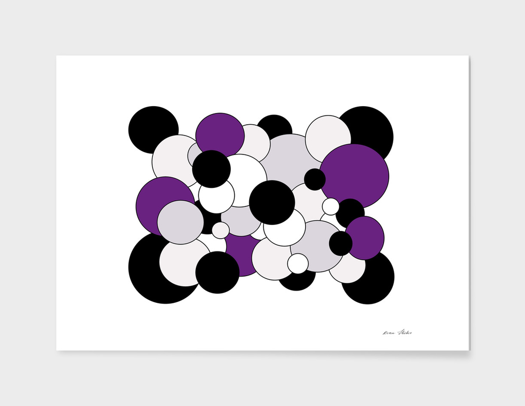Abstract - purple, black  and white.