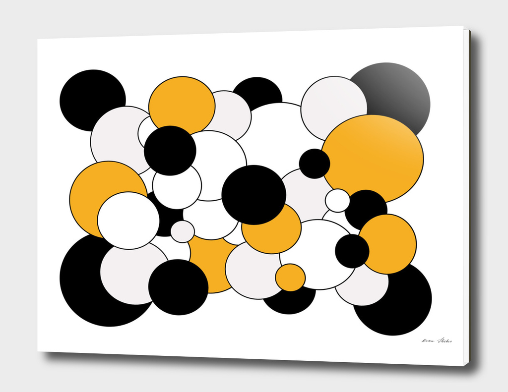 Abstract  pattern - orange, gray, black and white.
