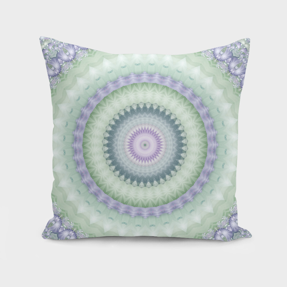 Heirloom Mandala in Green and Purple