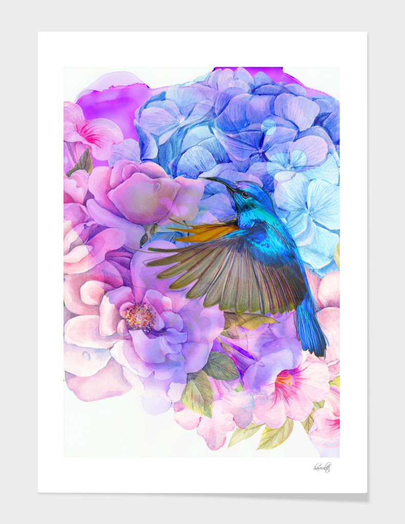 Alcohol ink modern flowers