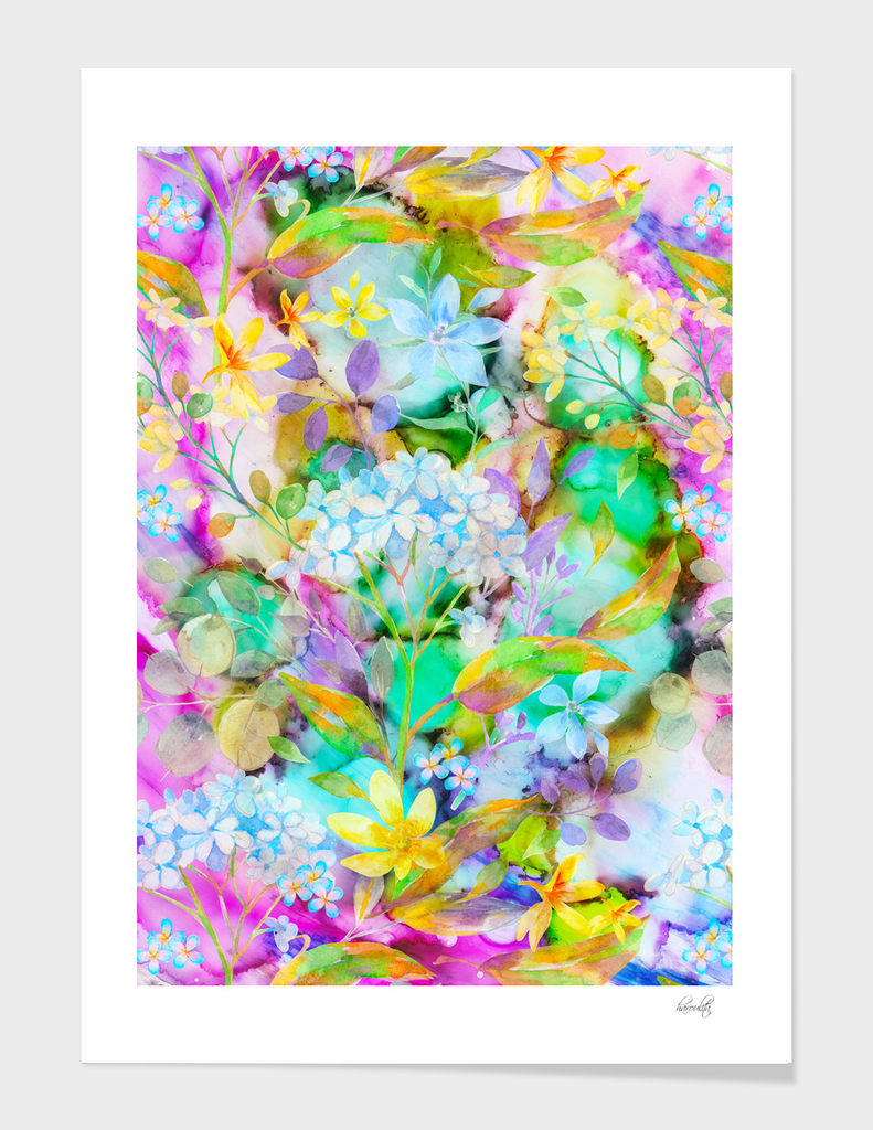 beautiful floral painting