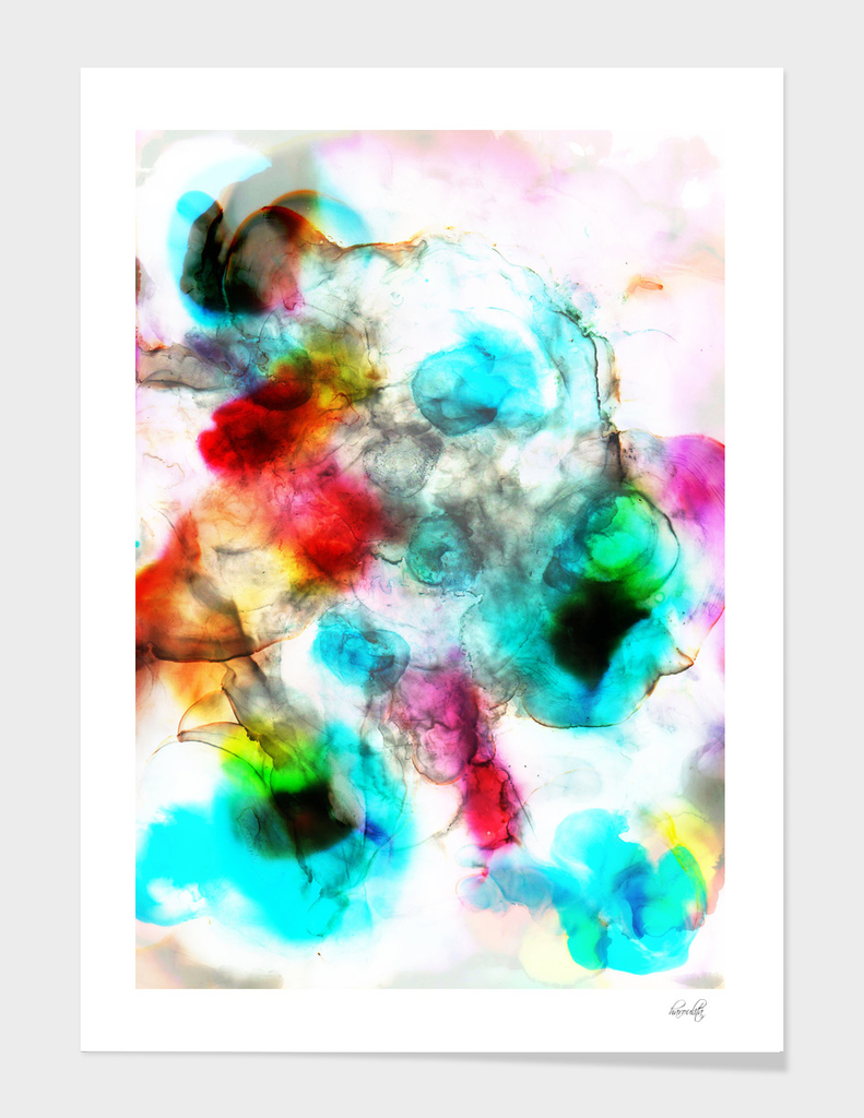 abstract colorful inks