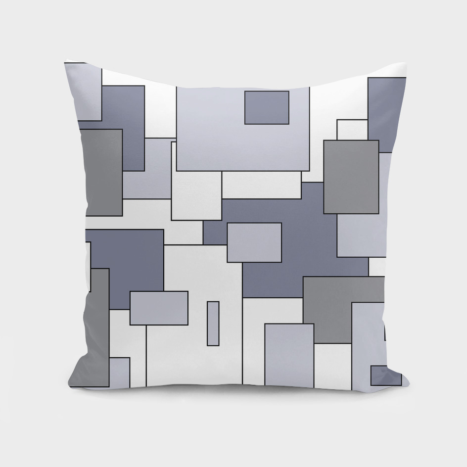 Abstract geometric - gray and white.