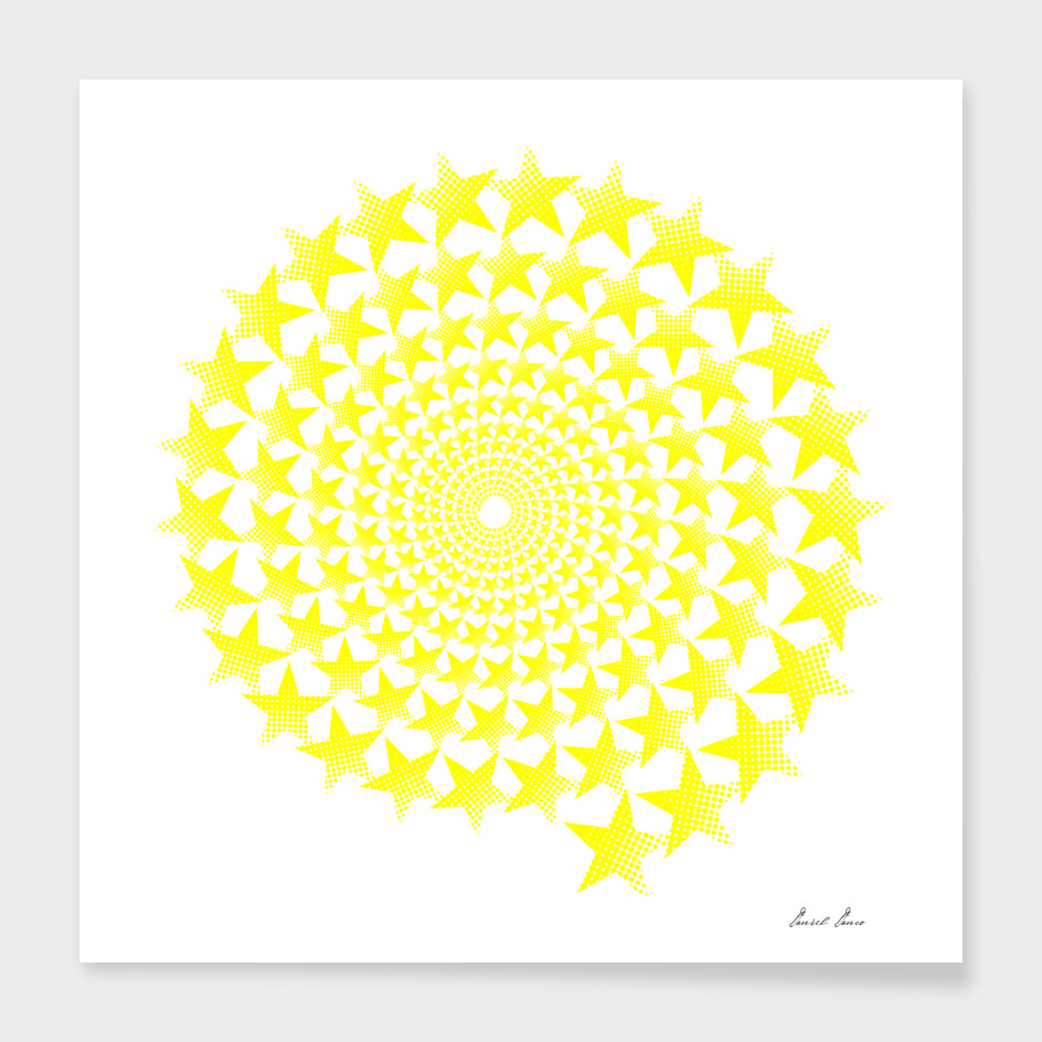 Yellow five-pointed star