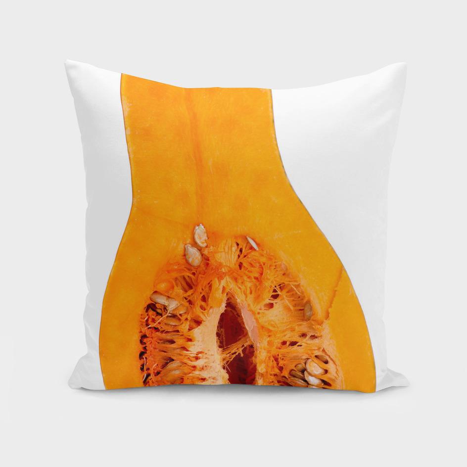 Pumpkin in a cut on a white background