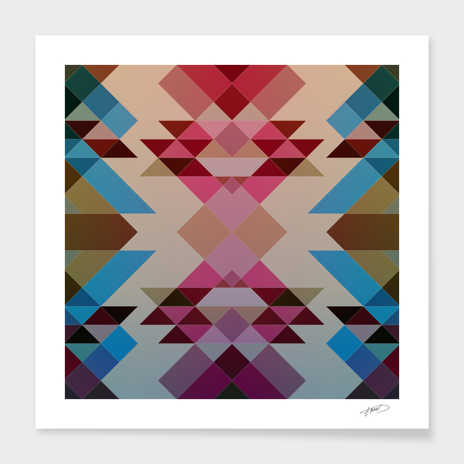 Abstract geometric V