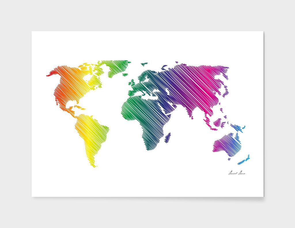 World Map - scribble