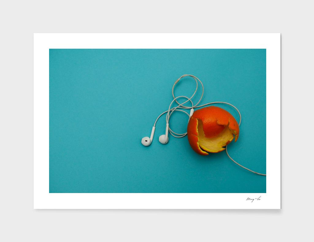 orange and music