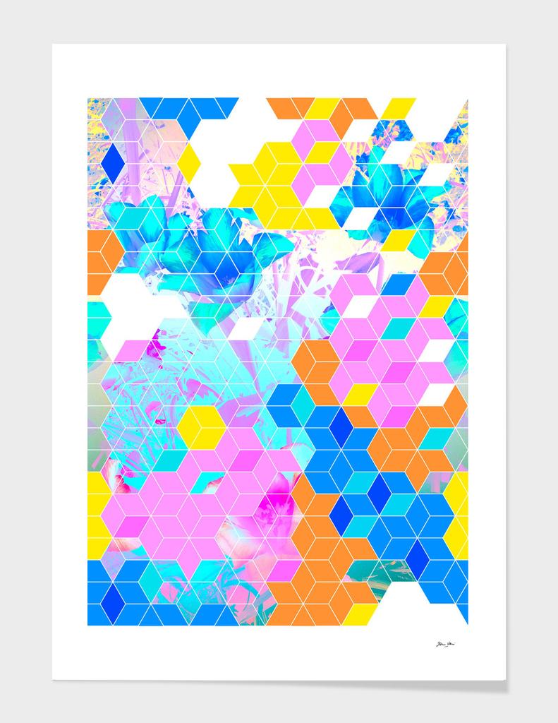 Pop Floral Cube Pattern 1
