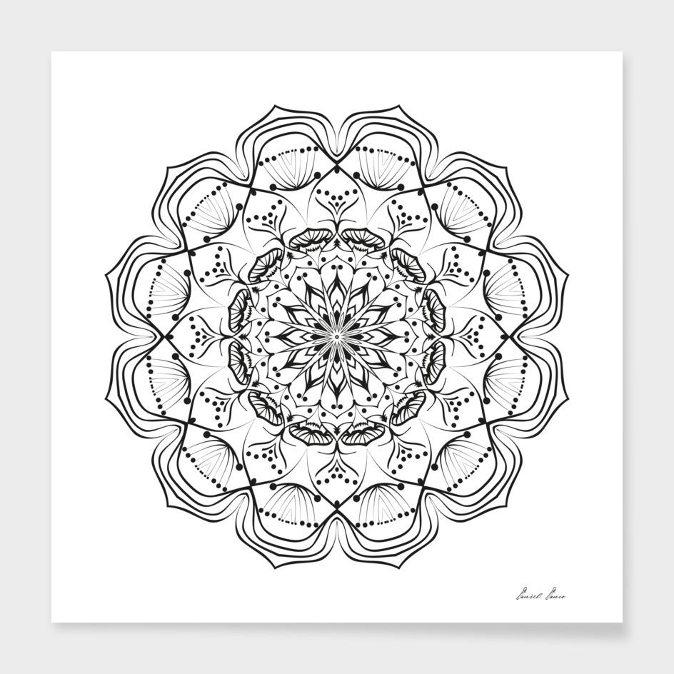 Flower Mandala, Vintage decorative elements,