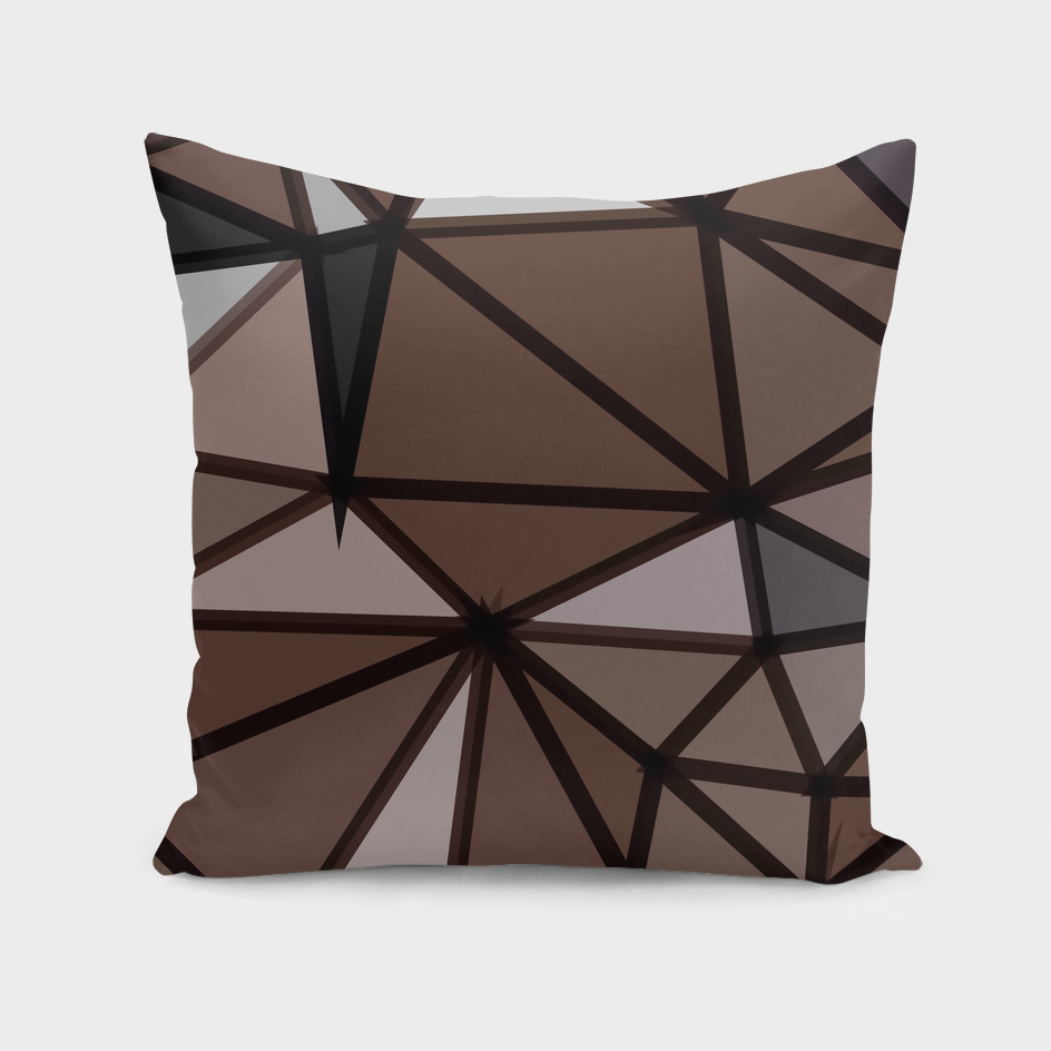 geometric triangle polygon pattern abstract in brown