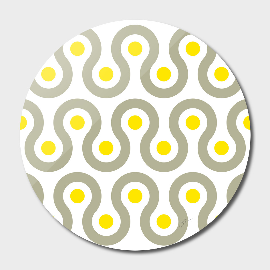 Gray & Yellow Wave Pattern