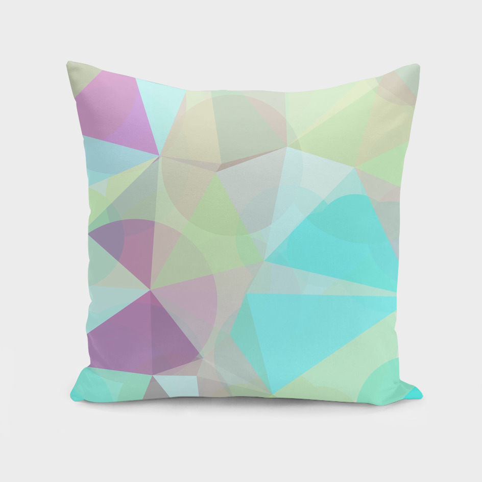 geometric triangle and circle pattern abstract in blue pink