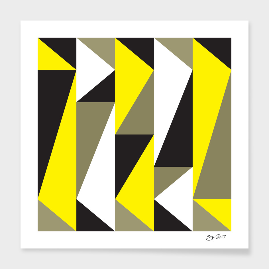 Yellow & black triangle pattern