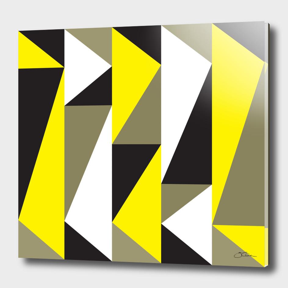 Yellow & black triangle pattern