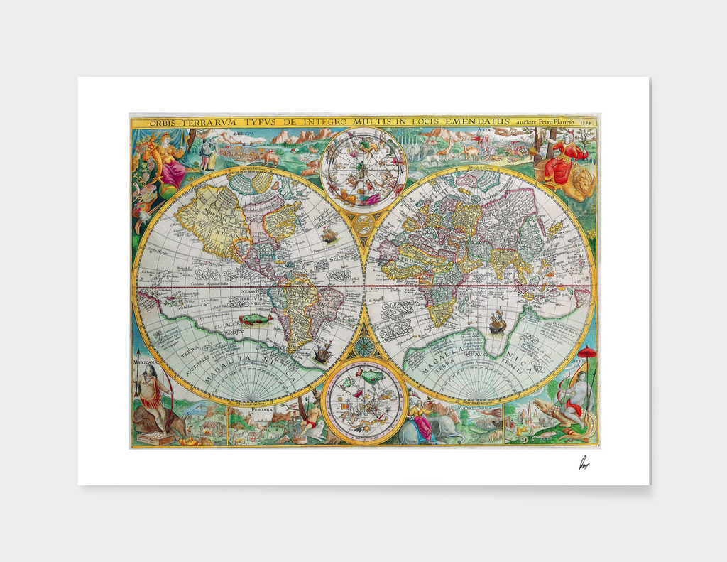 Beautiful Illustrated World Map
