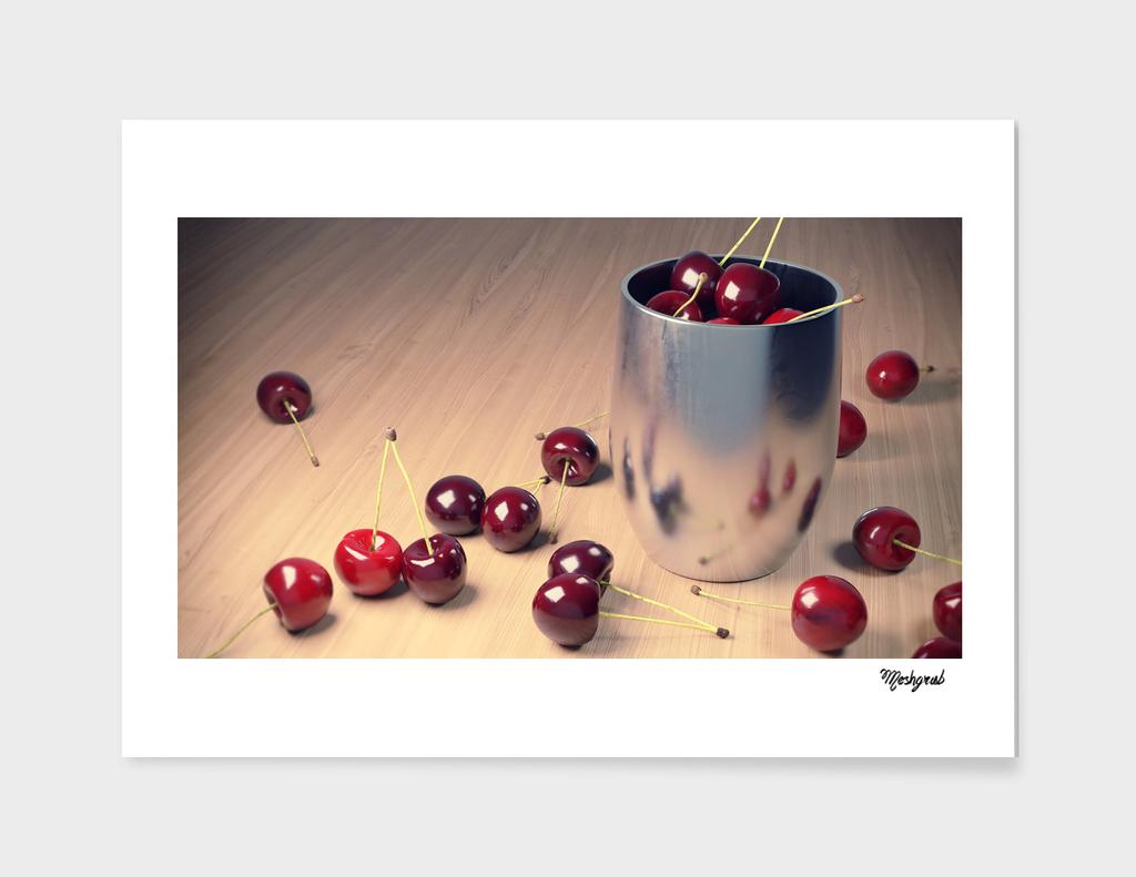 Still Life Cherries 3D