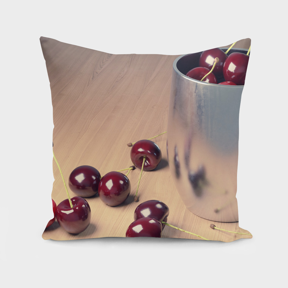 Still Life Cherries 3D