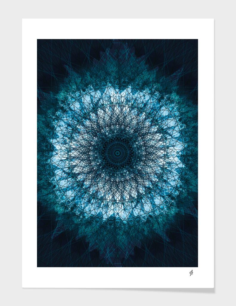Deep Blue Indigo Mandala