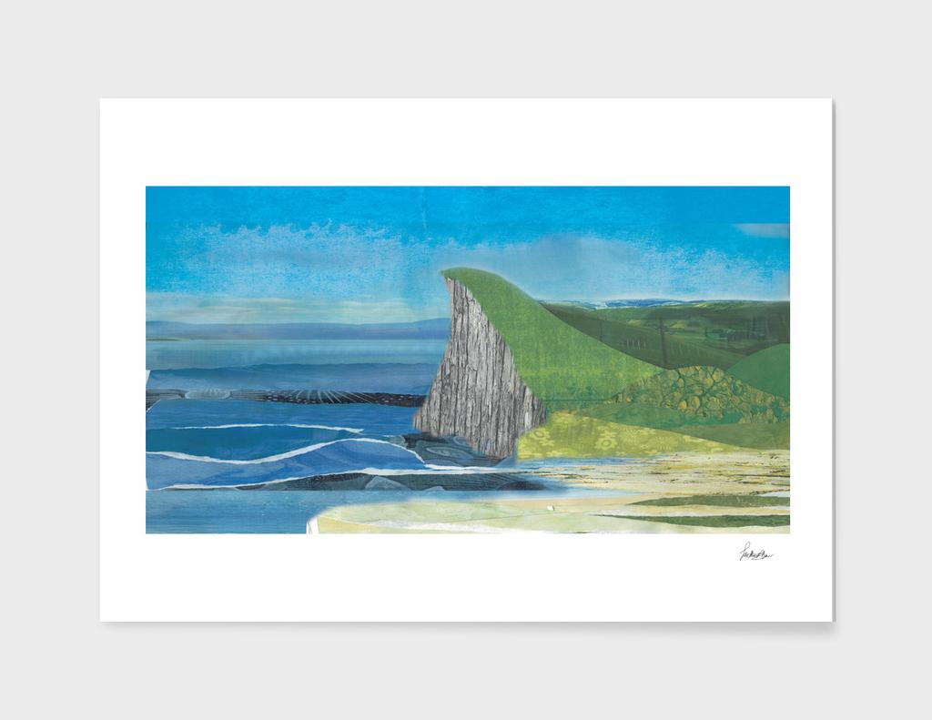 Collage Coastal Scene