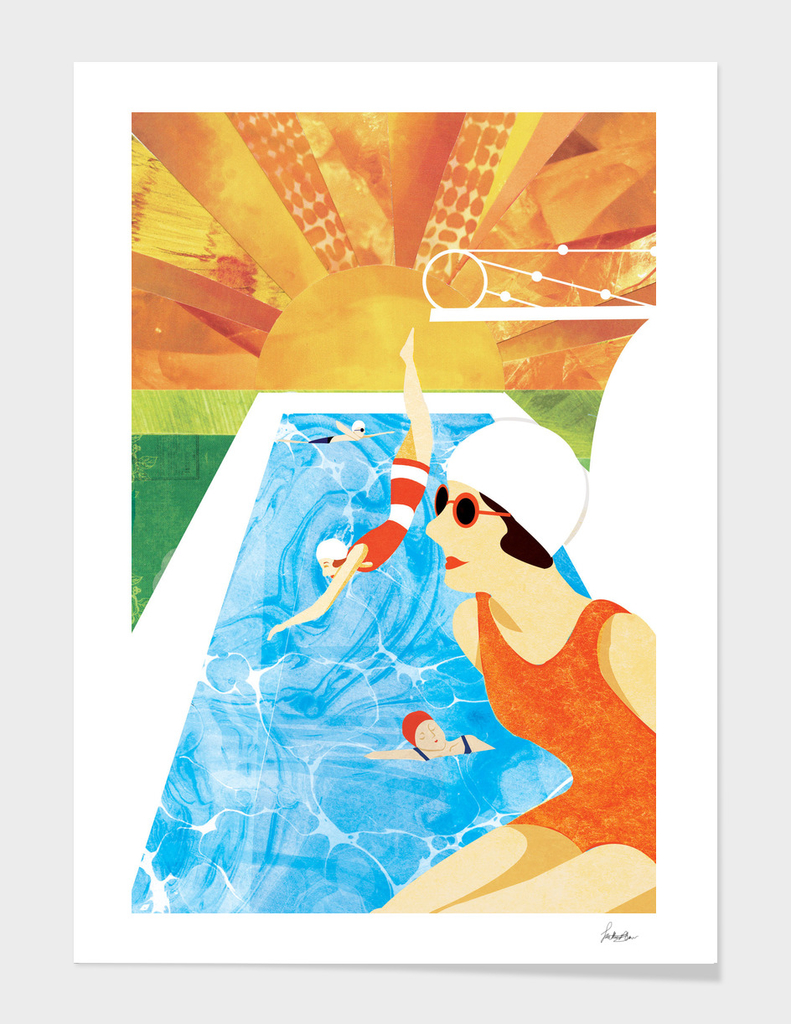 Art Deco Swimmers
