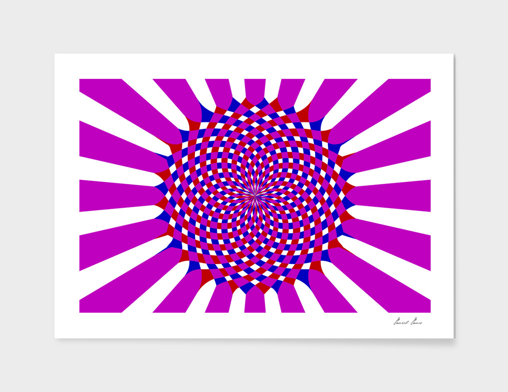Striped abstract circle