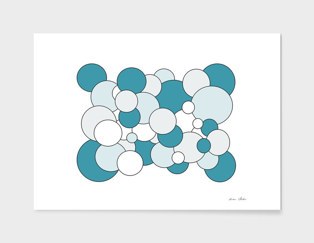Abstract - blue  and white.