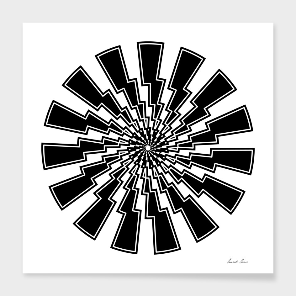 Lightning bolt - abstract geometric pattern