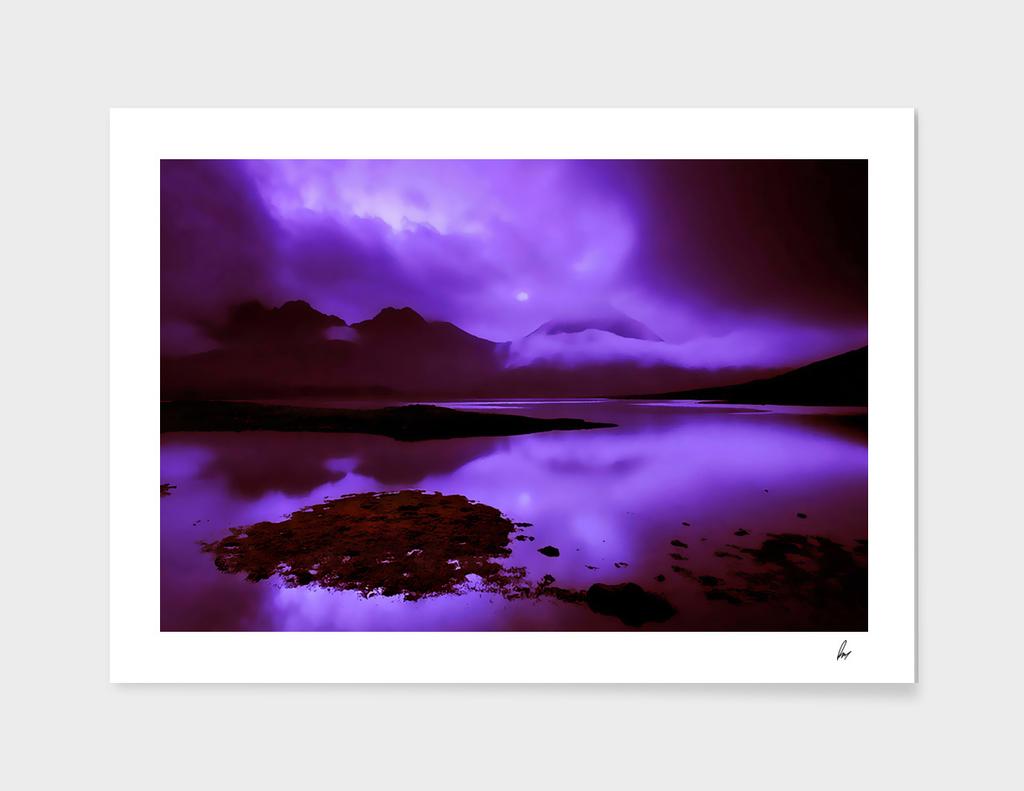 Scottish Loch Eerie Purple