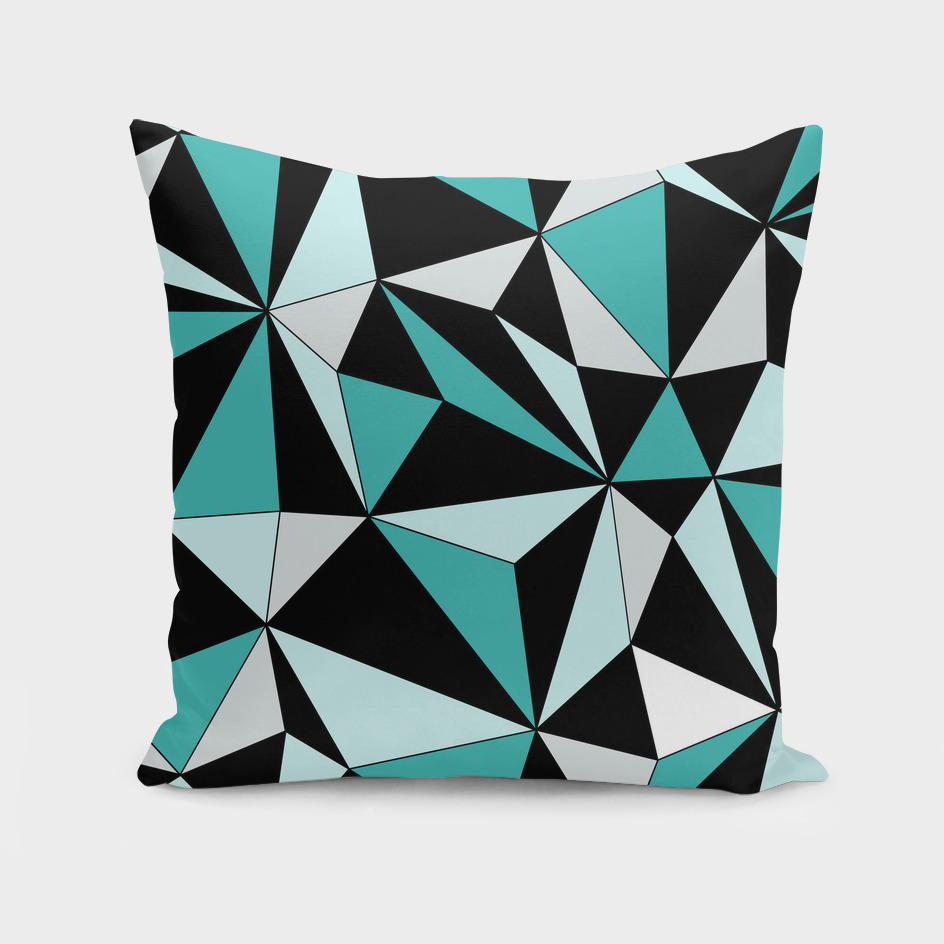 Abstract geometric pattern - green and black.