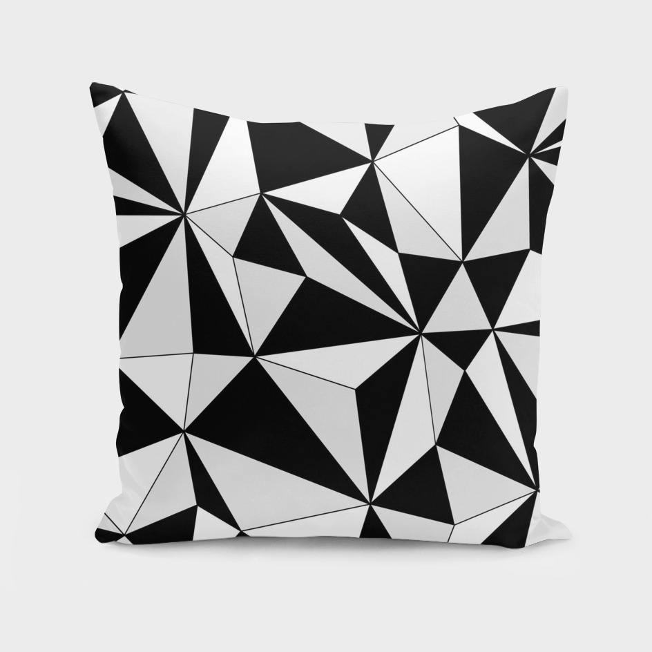 Abstract geometric pattern - gray, black and white.