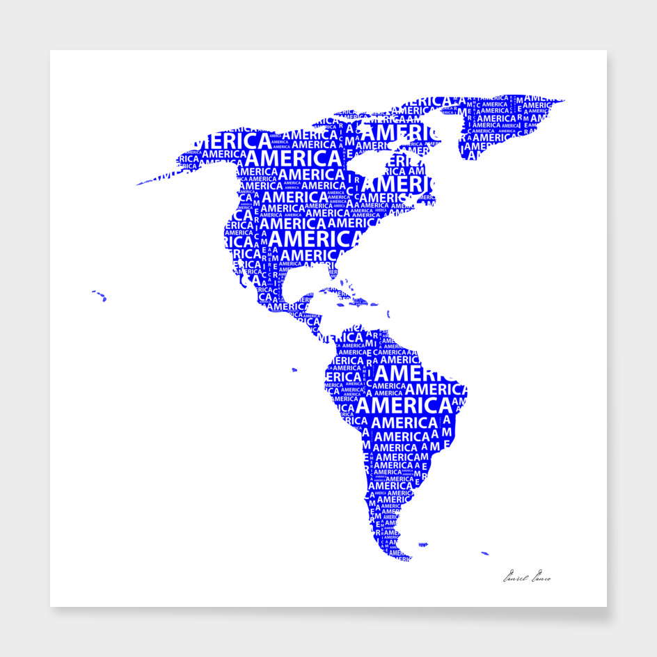 Map of continent America - illustration