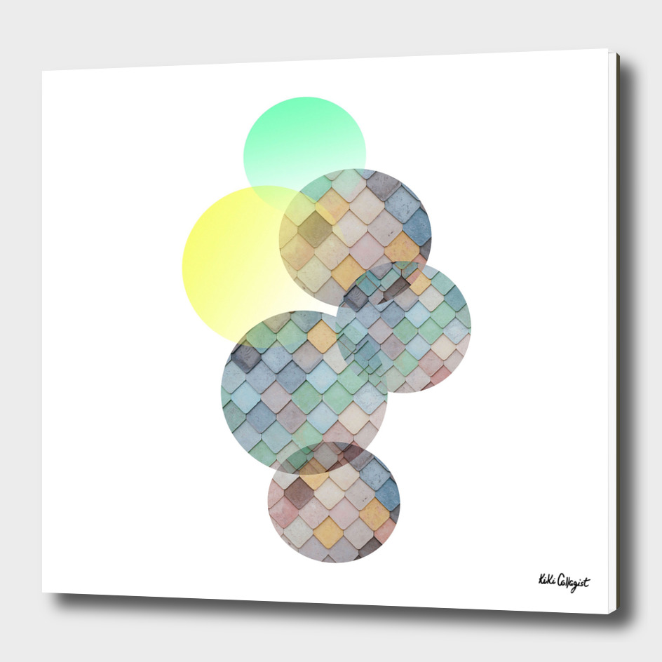 Abstract pastel cercle