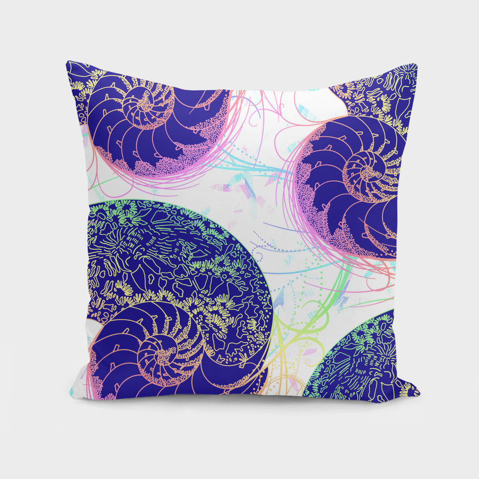 Flamboyant Colorful Sea Shells Illustration
