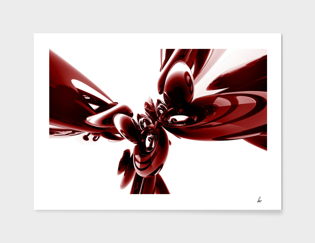Red Abstract Chrome