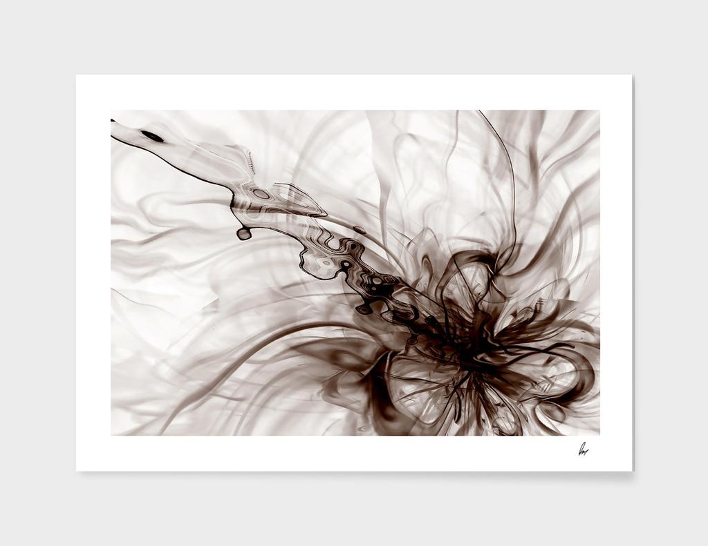 Smoke Swirls Abstract Brown