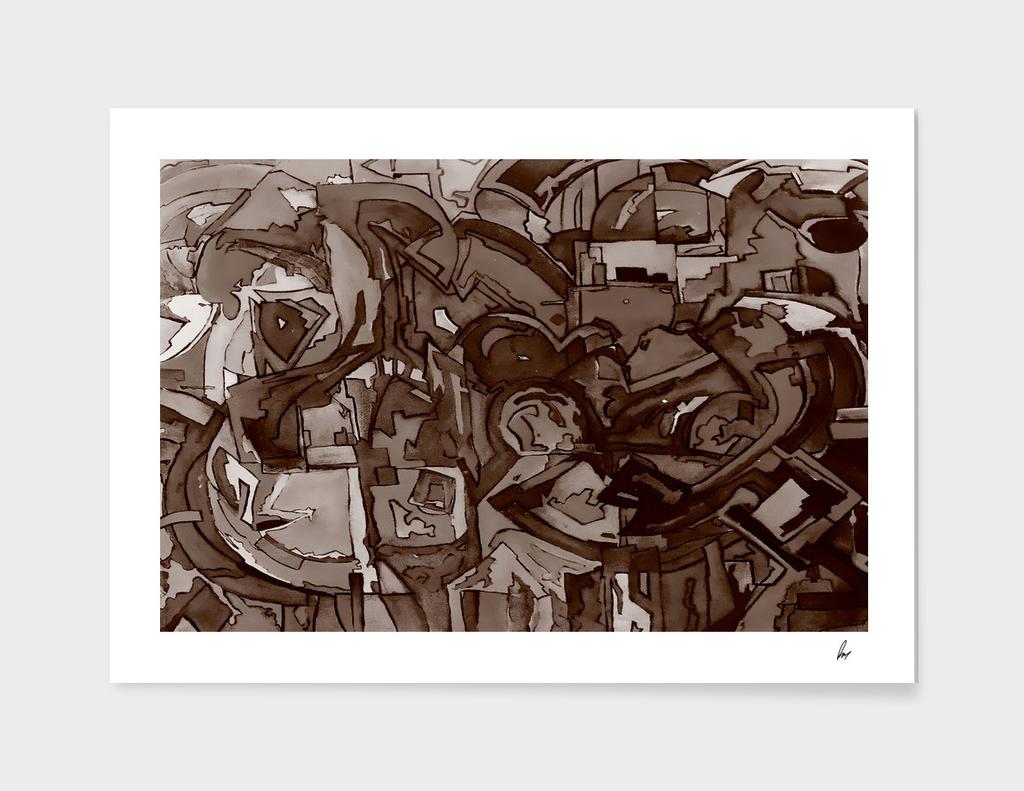 Chocolate Brown Mosaic