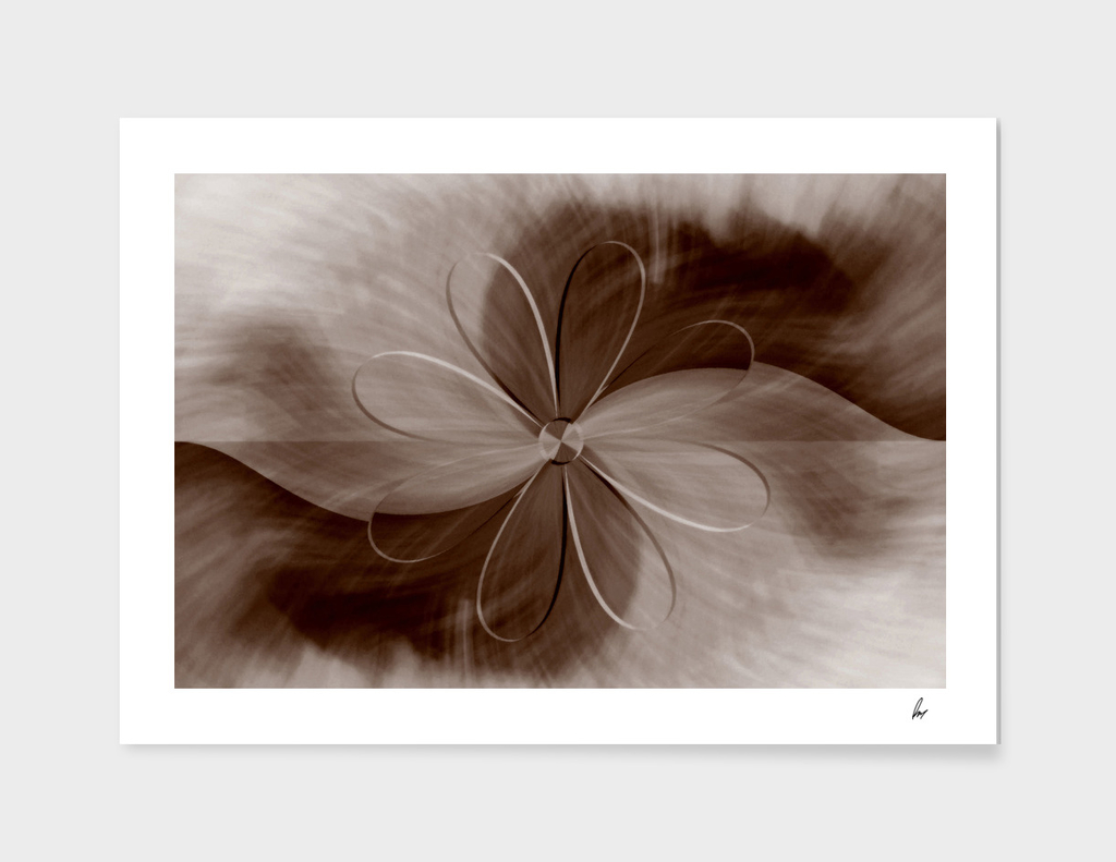 Brown Daisy Abstract