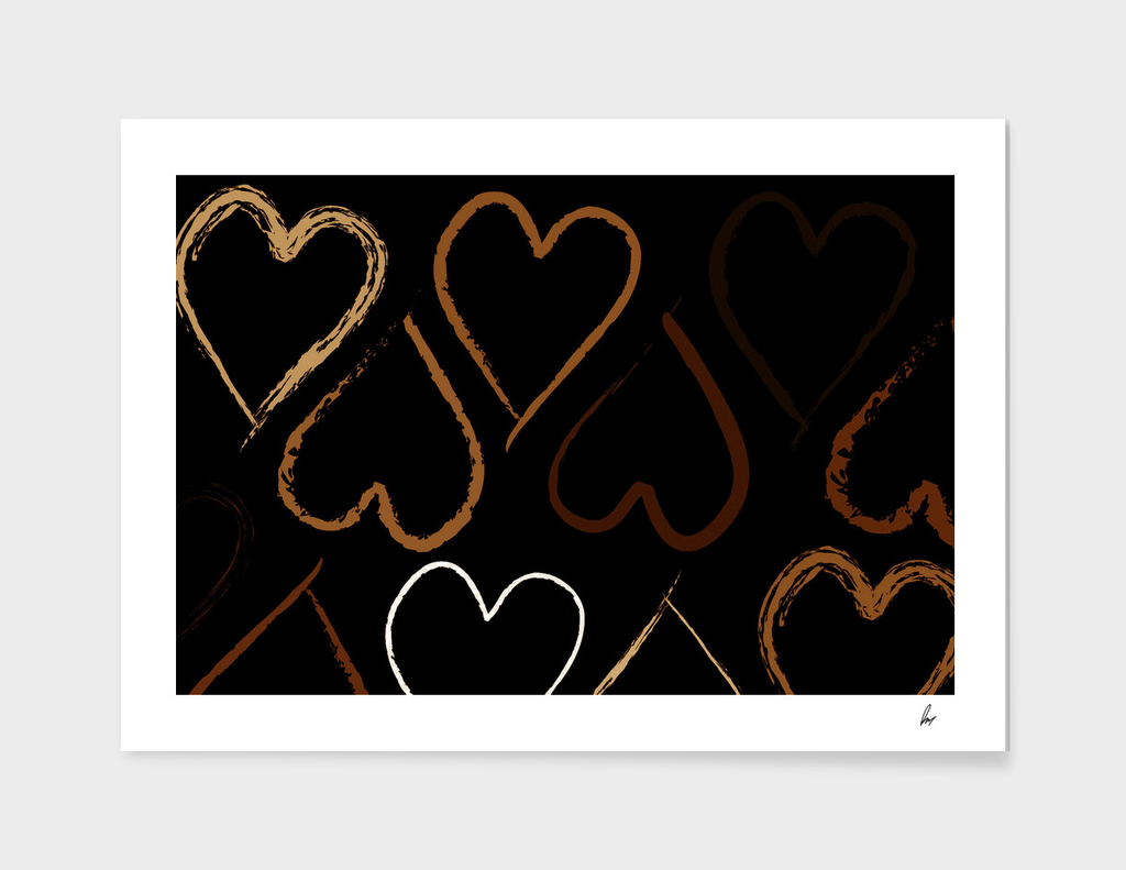 Love Heart Shades Of Brown