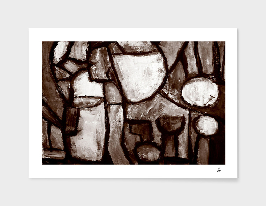 Shades Of Brown Mosaic