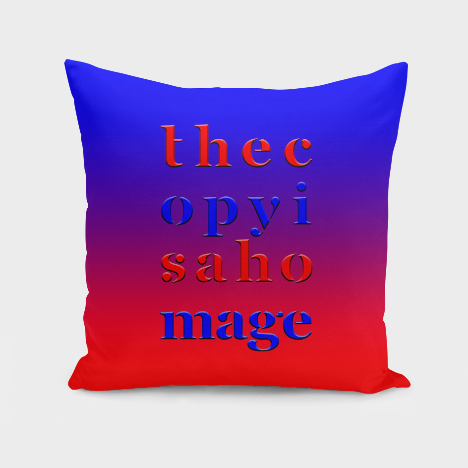 The Copy is a Homage – Red Blue