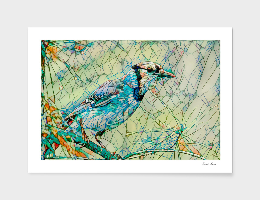 Blue Jay Mosaic